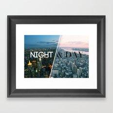 NIGHT & DAY Framed Art Print
