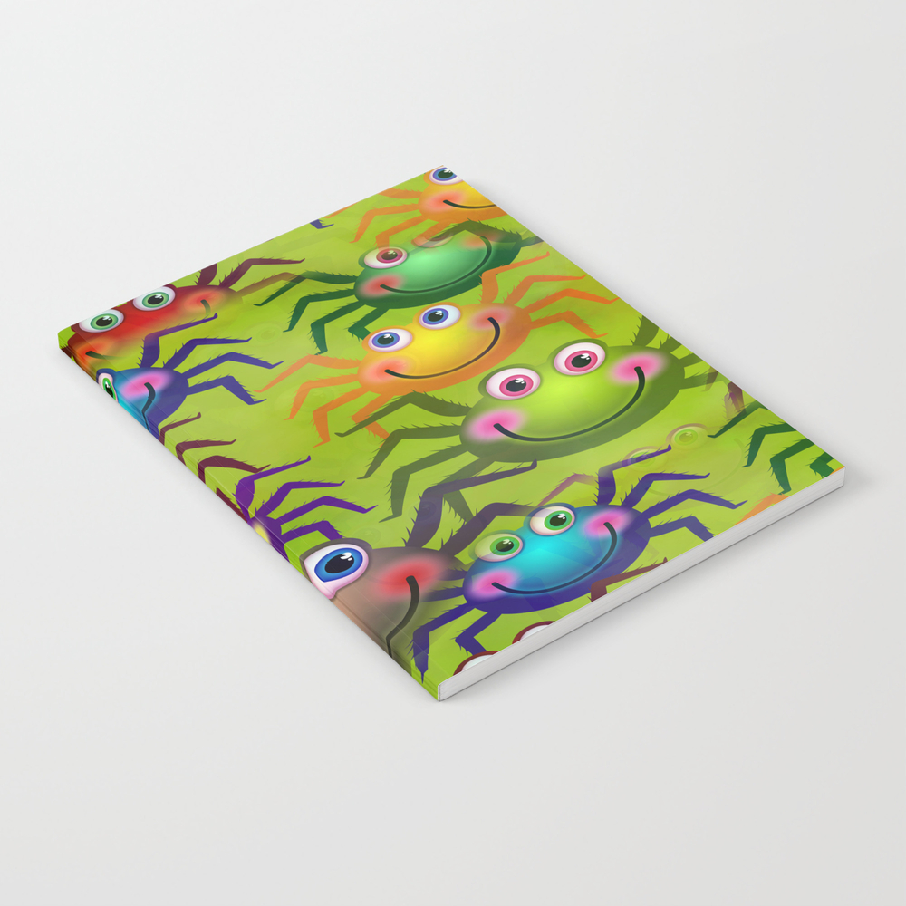 Cartoon Spiders Notebook by Prawny NBK8387171
