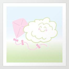 Floof Cloud and Kite Art Print