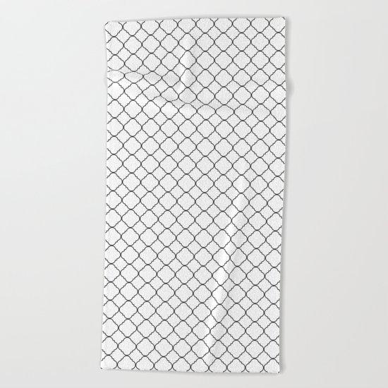 Minimalist Moroccan Beach Towel