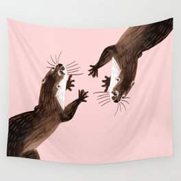 Asian small-clawed otter Wall Tapestry