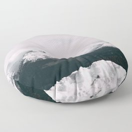 Mountain relief Alps Floor Pillow