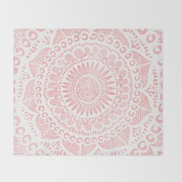 Blush Lace Throw Blanket