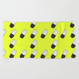 Take a neon pill Beach Towel