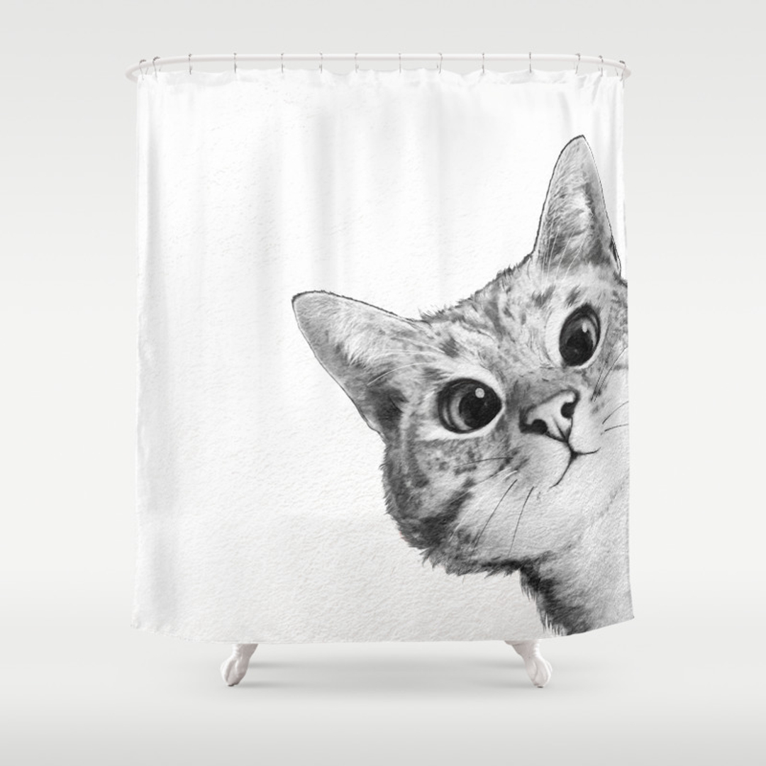 Cat Shower Curtains Society6