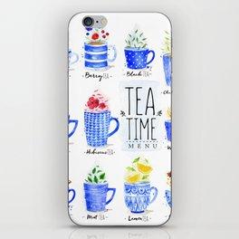 Tea Time Menu iPhone Skin