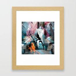 Tube Distortion Framed Art Print