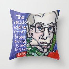 Justice Ruth Bader Ginsburg Throw Pillow