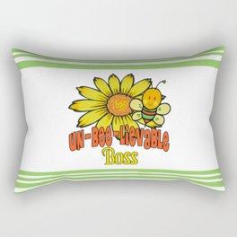 Unbelievable Boss Sunflowers and Bees Rectangular Pillow