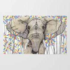Elephant // Endangered Animals Rug