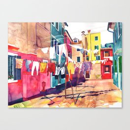 Laundry in Venice Canvas Print