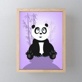 Panda Girl - Purple Framed Mini Art Print