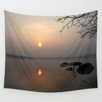 calm Wall Tapestries featuring calm by  Agostino Lo Coco