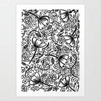 A Ton of Flowers Art Print
