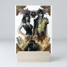 SANDMAN - MORPHEUS AND DEATH Mini Art Print