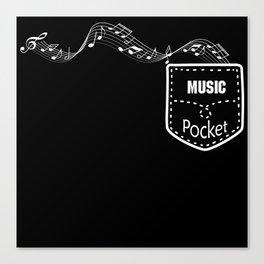 Music Pocket V0 White Canvas Print