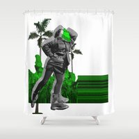 moscow Shower Curtains featuring Moscow Jungles by Tate Bacalao