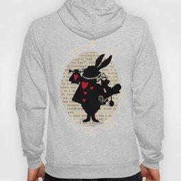 Alice In Wonderland White Rabbit Vintage Book Hoody