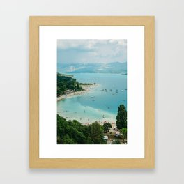 Lac Du Sainte Croix Framed Art Print