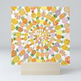 Pineapple Parade Mini Art Print