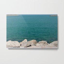 The calming beach view Metal Print