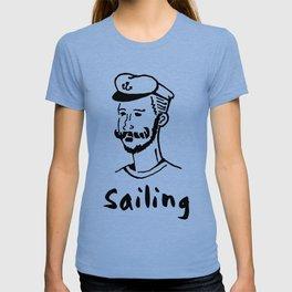 Sailing Seaman Ship Boat Cruise Sea Ozean Seabear Gift T-shirt