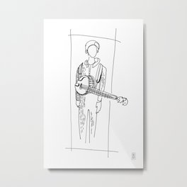 Banjo Player Metal Print