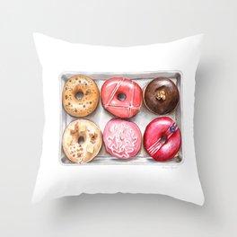 Glorious Glazed Donuts Throw Pillow
