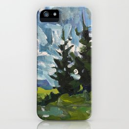 cascadia trees iPhone Case