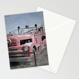 Vintage Fire Truck Stationery Cards
