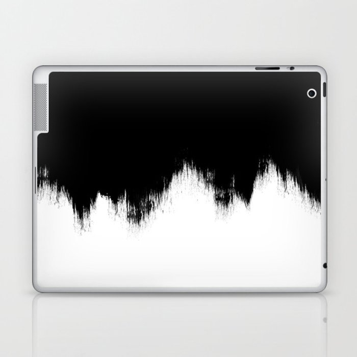 Black And White Abstract Art Laptop & iPad Skin