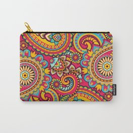 Fuschia Pink Paisleys Carry-All Pouch