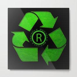 Recycle Logo Metal Print