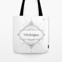 Art Deco Michigan Tote Bag