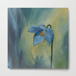 A Blue Poppy Metal Print