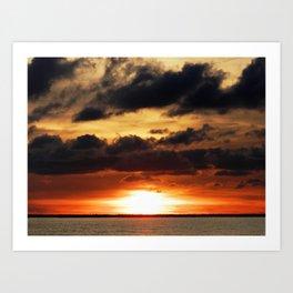Narragansett Sunset Art Print