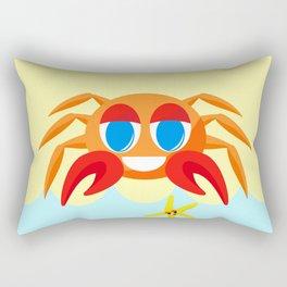 Crabby On The Beach Rectangular Pillow