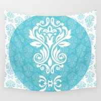 damask Wall Tapestries featuring Damask by VanyNany