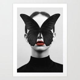 BLACK BUTTERFLY Kunstdrucke
