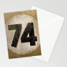 Vintage Auto Racing Number 74 Stationery Cards