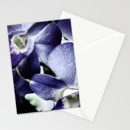 Navy Blue Orchid Stationery Cards