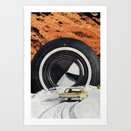 Burning Rubber Art Print