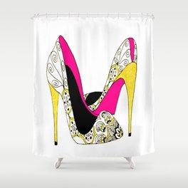 Fashion shoe art Shower Curtain