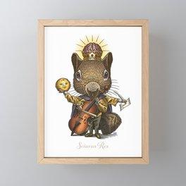 King of Squirrels Framed Mini Art Print