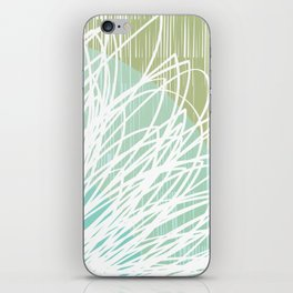 Doodle Flowers in Mint by Friztin iPhone Skin