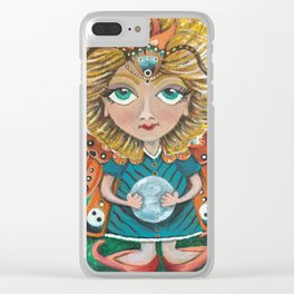 Butterfly fairy godmother Clear iPhone Case