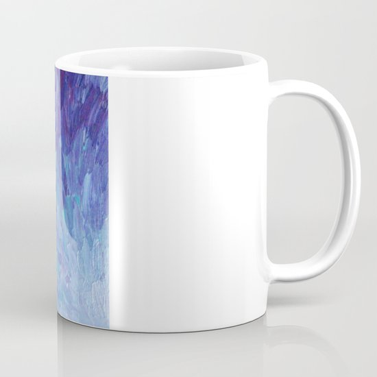 SCALES OF A DIFFERENT COLOR - Abstract Acrylic Painting Eggplant Sea Scales Ocean Waves Colorful Mug