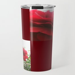 Red Rose with Light 1 Blank Q10F0 Travel Mug
