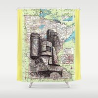 minnesota Shower Curtains featuring Minnesota by Ursula Rodgers