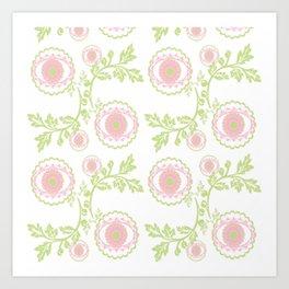 Vintage Garden-pink  blossom Art Print